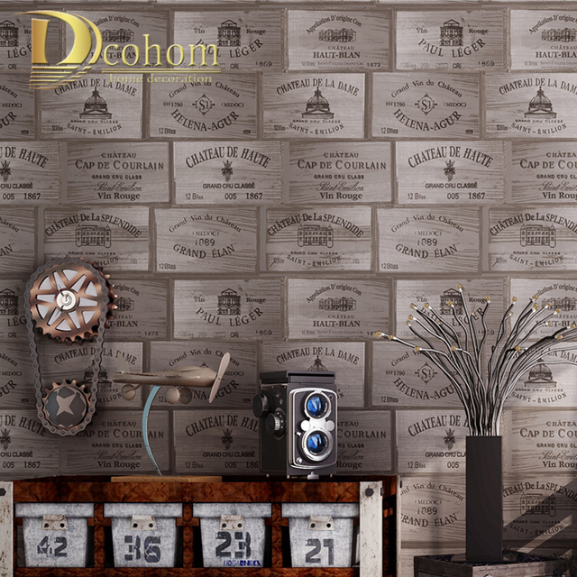 Aliexpress.com : Buy Dcohom American Vintage 3D Wooden Textured ...