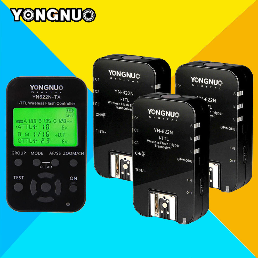 Yongnuo Yn622n Kit Ittl Ttl Hss Flash Trigger Set Tx Lcd 1hz Clock Generator With Chip On Board Cob Transmitter Controller X1 622n Transceivers X3 For Nikon