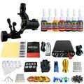 Solong Татуировки Новый Начинающий 1 Pro Machine Gun Татуировки Kit Питания Иглы Ручки совет 7 цветов набор чернил TK105-32