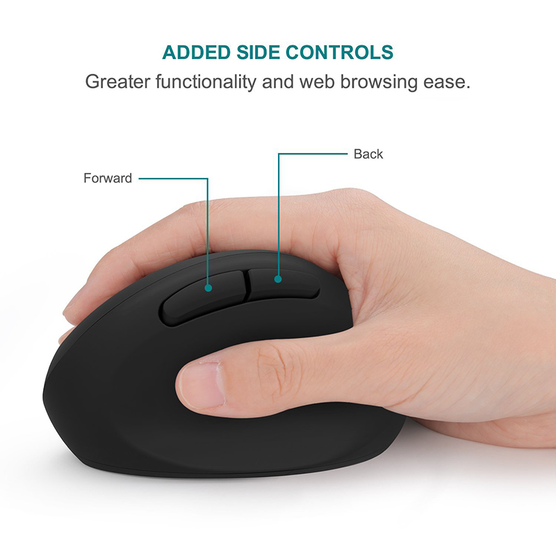 Image 3 - Jelly Comb Ergonomic Mouse Right Hand 2.4GHz Wireless Vertical Mouse for PC Laptop Optical Mice 800/1200/1600 DPI  6 ButtonsMice   - AliExpress