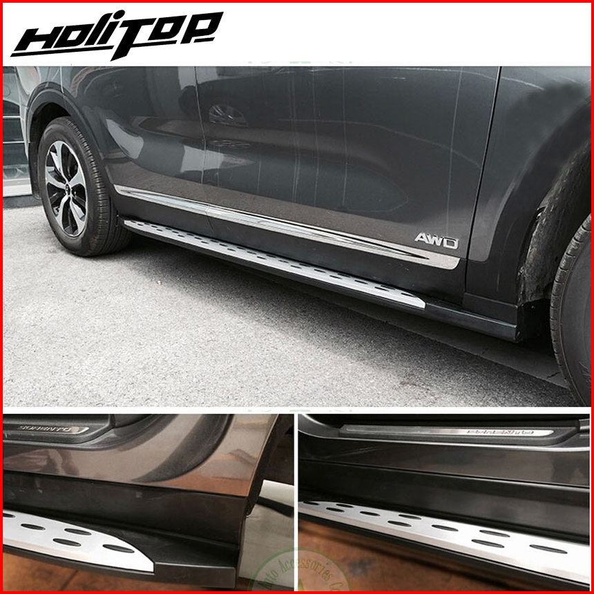 Hot for KIA Sorento 2015 2017 side step foot bar running boards popular in China aluminium