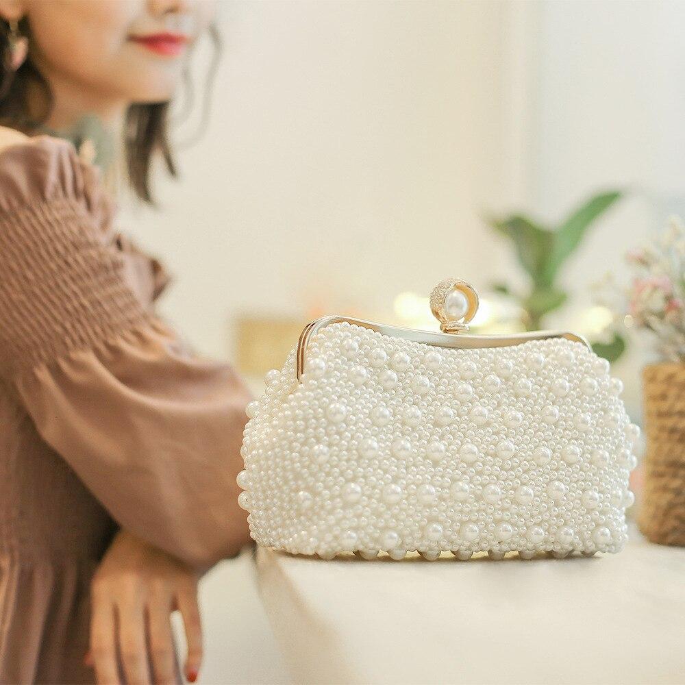 Ladies Dinner Bag Deluxe Evening bag 2018 sparkle Pearl woman shoulder bag