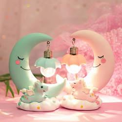 Смола Луна Единорог СВЕТОДИОДНЫЙ Ночник мультфильм детская лампа дыхательная детская игрушка Рождественский Подарок детская комната