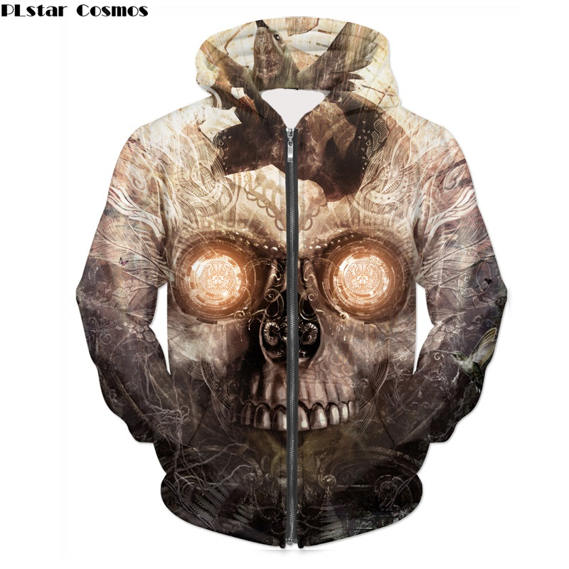Fashion Skulls 3D Hoody Printing Colour Bar Skulls Unisex Hoodies Sweatshirts