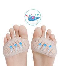 Paires dorteils en Gel, coussinets en forme de ruche, coussinets métatarsiens pour soulager la douleur des pieds, coussins en forme de ruche avant pied