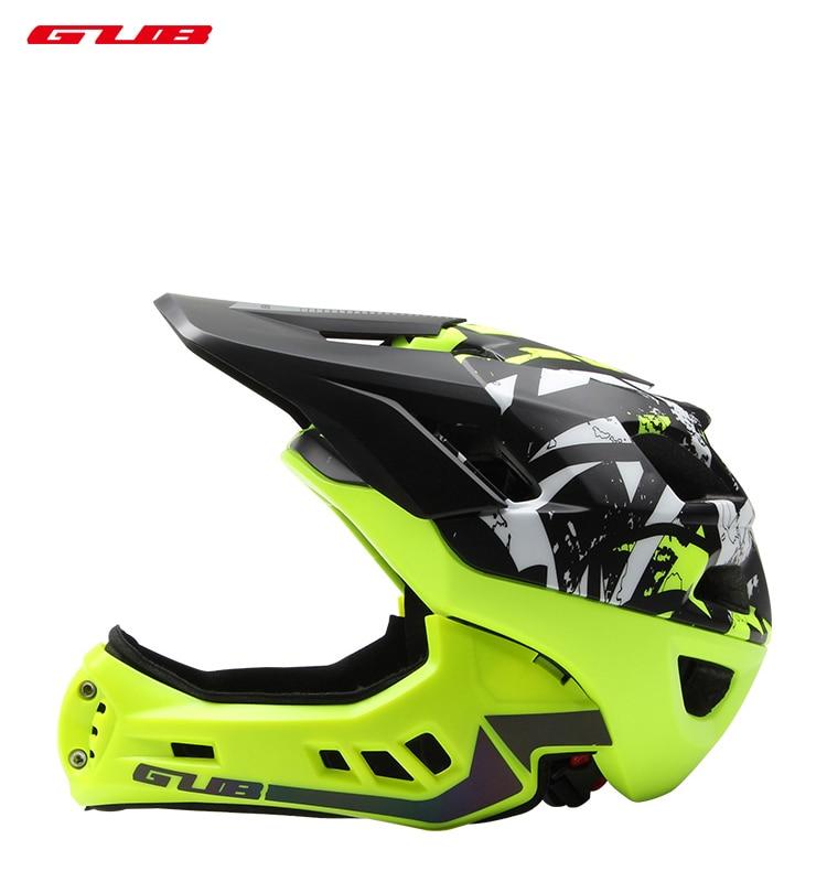 все цены на GUB Kids Trainer Bike Helmet Fullface All-terrai MTB Cycling downhi Children Bicycle Sports Safety Helmet OFF-ROAD Helmet онлайн