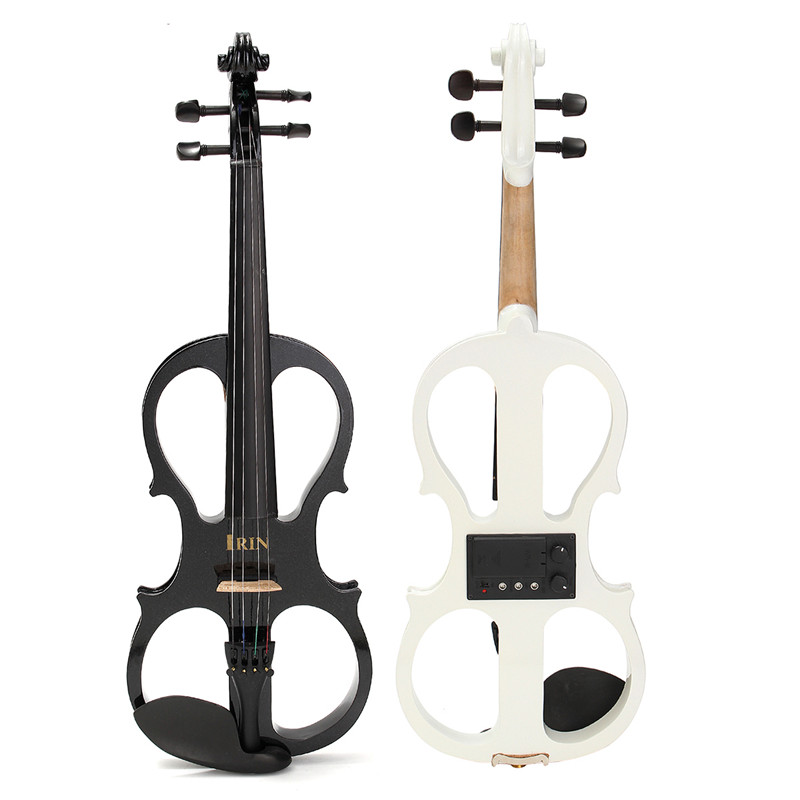 Zebra Full Size 4/4 Musical Stringed Instruments Maple Faddle Electric Violin with Violin Case Rosin Parts full size 4 4 solid basswood electric acoustic violin with violin case bow rosin parts accessories for musical instruments lover