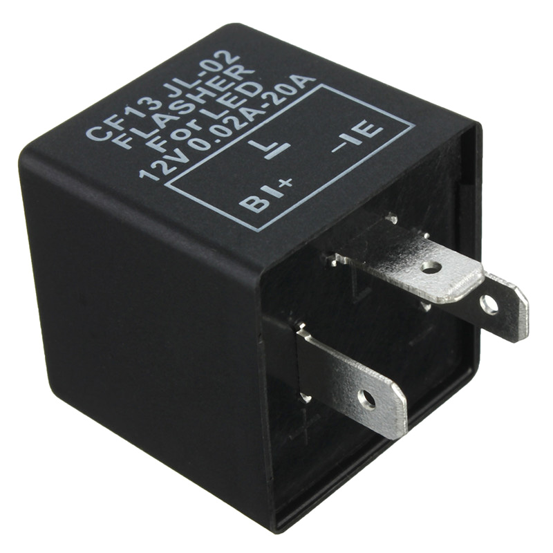 3 Pin Car Flasher Relay Fix LED Light Turn Signal Hyper Flash CF13 CF13JL EP34 12V Motorcycle Error FAST Flasher Hot