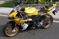 LJBKOALL Yellow White Black Complete Fairing Injection for Yamaha Yzf R1 2000 2001 2002 2003 2004 2005 2006 2007 2008
