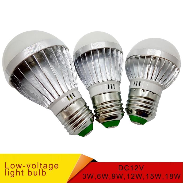 E27 E14 светодиодные лампы постоянного тока 12 В smd 2835chip lampada luz E27 лампа 3 Вт 6 Вт 9 Вт 12 Вт 15 Вт 18 Вт светодиодные лампочки|Светодиодные лампы и трубки|   | АлиЭкспресс