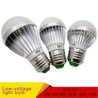 E27 E14 luces de bombilla de LED DC 12V 2835 smd chip Lampada luz E27 lámpara 3W 6W 9W 12W 15W 18W bulbo del punto llevó bombillas de luz