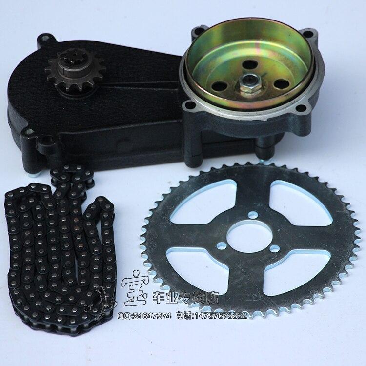 49cc poche vélo liya avant boîte de vitesses transmission boîte de vitesses mini moteur atv 2 temps moteur partie avec chaîne et plaque T8F 140 MM