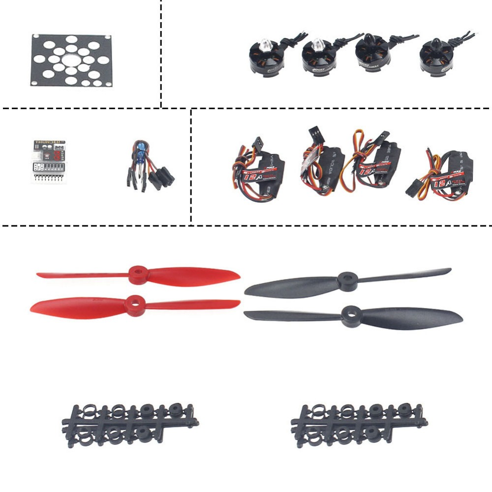 F12065-P 4-Axis Helicopter Kit KV2300 Brushless Motor+12A ESC+QQ Super Flight Control+FC6x4.5 Propeller