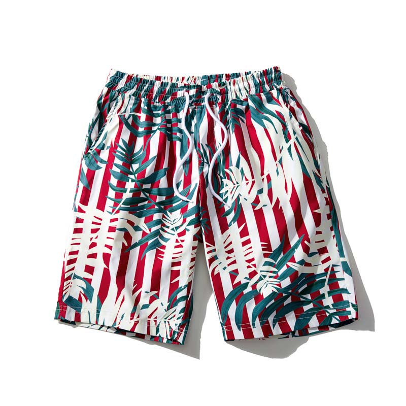 2019 Summer Men's Beach Shorts 8 Colors Hawaii Bermuda Floral Pattern Loose Straight Short Male Brand Clothes
