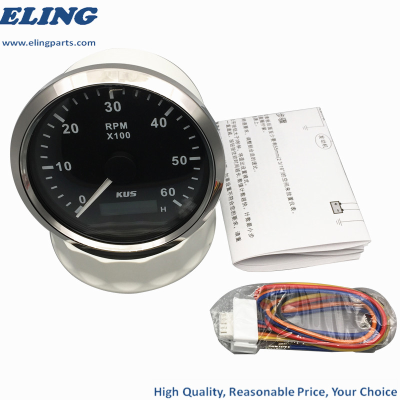 Hour Meter Boat Marine Hour Meter and Tachometer 0-6000RPM KUS Tacho