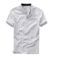 חמה למכירה חולצת פולו מוצק מיהר באיכות גבוהה 2017 קיץ פשתן בוטון Slim שרוול הקצר של גברים חולצות פולו 6 צבע גודל S-XXL