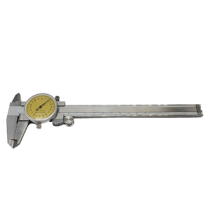 1pcs Dial Caliper 0-150mm Stainless Steel Shockproof Vernier Calliper 0-6inch Metric Gauge Measuring Tool 0 150mm 6inch digital vernier caliper waterproof stainless steel lcd electronic caliper gauge tool metric imperial conversion