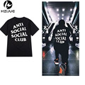 2017 Summer ANTI SOCIAL CLUB T Shirt Mens Hip Hop Streetwear Cotton Short-sleeved T-Shirt cotton KANYE tees top 8 color S-XXXL