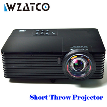 WZATCO 6000Lumens Short Throw 3D DLP Projector Beamer Proyector Business Meeting Education Full HD 1080P Android 7.1.2 Options