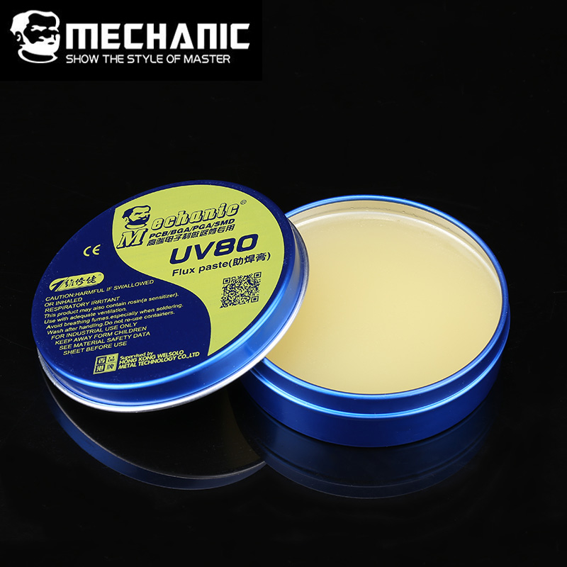 MECHANIC MCN-UV80  No-clean  Solder Flux Paste Rosin No-Clean Soldering Iron Welding Fluxes Paste For PCB BGA PGA SMD