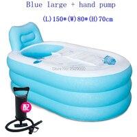 SPA pvc Folding Portable Bathtub Inflatable freestanding Bath Tub With Cover Pink or blue color bath tub Portable Bathtubs