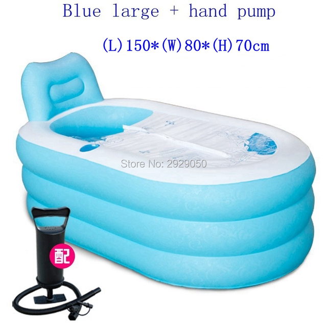 SPA Pvc Folding Portable Bathtub Inflatable Freestanding Bath Tub With  Cover Pink Or Blue Color Bath