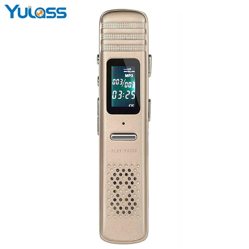 Yulass Professional HD 8GB Digital Voice Recorder Pen Mini Small Portable USB WAV Metal Audio Dictaphone