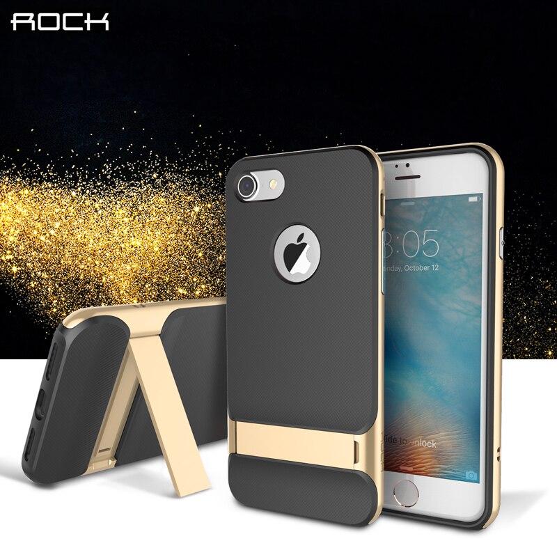 """bilder für Original ROCK Telefonkasten für iPhone 7 Luxury back Cover fall mit Ständer für iPhone 7 Plus 5,5 """"telefon fall freies verschiffen"""