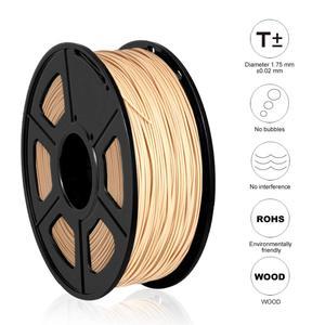 Image 4 - SUNLU Woood fiber 3d printer filament PLA&wood 3d filament 1.75mm 1kg wood fialment with 18%wood fiber & 82% PLA no bubble