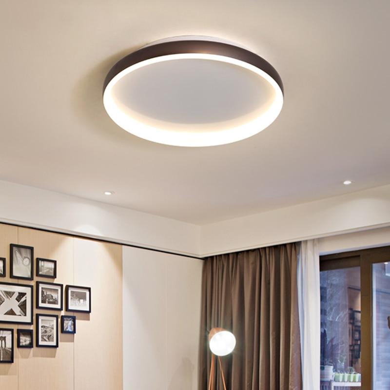 NEO Gleam White/Black/Coffee Finished Modern Led Ceiling Lights For Living Room Bedroom Study Room Home 110V 220V Ceiling Lamp