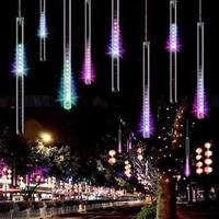 Waterproof Holiday Lights 30cm 50cm Meteor Shower Rain Tubes Led Light Lamp 100 240V Christmas Wedding