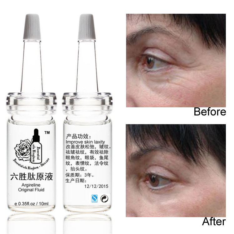 10ml*2pcs Argireline Original Fluid Liquid Anti Wrinkle Moisturizing Skin Care Anti Aging Crow's Feet, Eye Bags, Wrinkles