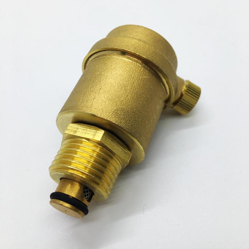 V/álvula de purga 2 V/álvula de purga de lat/ón autom/ática para aliviar la presi/ón del calentador de agua solar DN15 G1