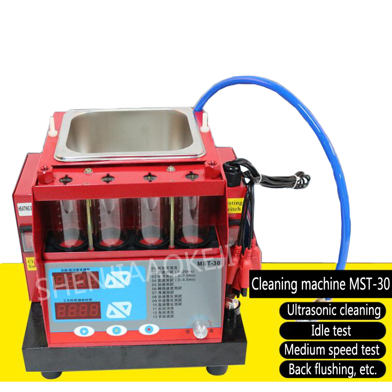 Four-cylinder injector cleaning machine MST-30 Motorcycle injector cleaning 70W Detection / testing / integrated ultrasound 220VFour-cylinder injector cleaning machine MST-30 Motorcycle injector cleaning 70W Detection / testing / integrated ultrasound 220V