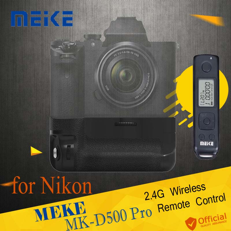 Meike MK-D500 Pro Vertical Battery Grip Built-in 2.4GHZ FSK Remote Control Shooting for Nikon D500 Camera as MB-D17 Accessories meike vertical battery pack grip for nikon d5300 d3300 2 en el14 dual charger