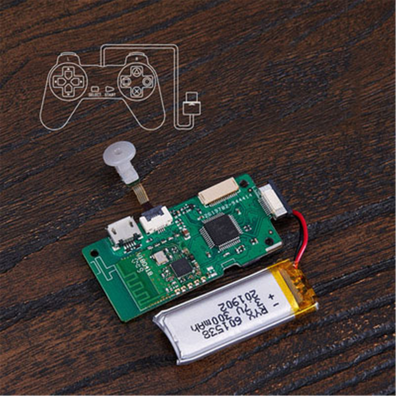 Circuit Board Kit For 8Bitdo PS1 SONY Classic PS Mini Original Gamepad DIY Wireless Bluetooth Circuit