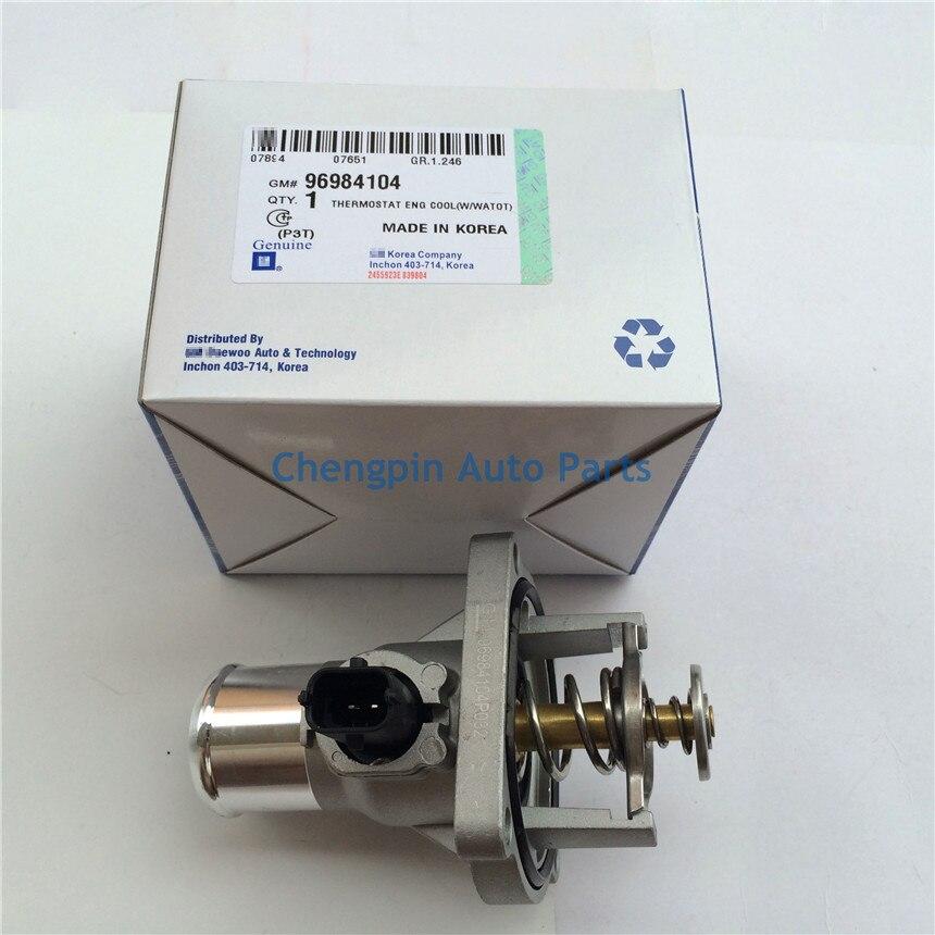Liquide de Refroidissement Du moteur Ensemble Thermostat D'origine OEM #96984104 Thermostat Pour Chevrolet Cruze Sonic Aveo Astra Zafira Signum