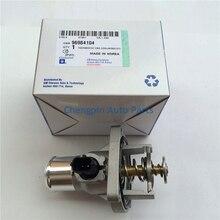 Liquido di Raffreddamento Del motore Termostato Montaggio Originale OEM #96984104 Termostato Per Chevrolet Cruze Aveo di Sonic Astra Zafira Signum