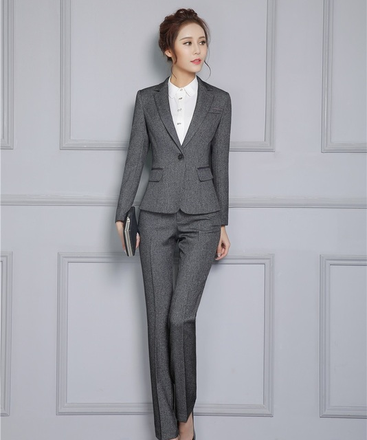 Plus Size 4XL Professional Slim Fashion Formal Pantsuits With Tops ...