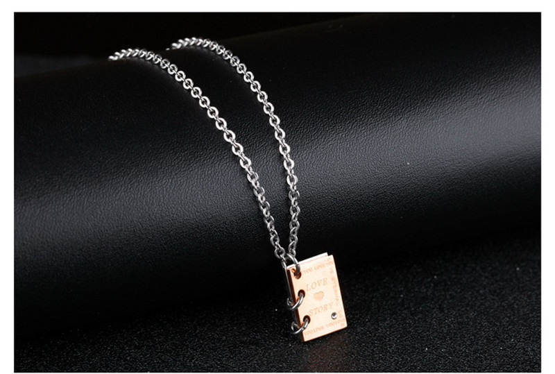 Romantic Love Story Book Necklace