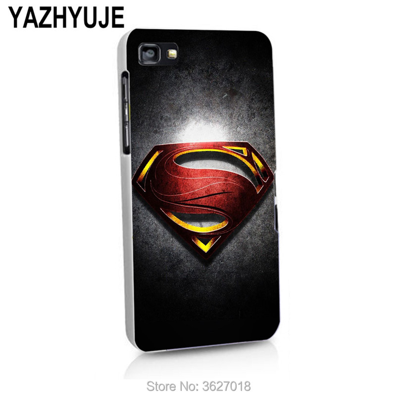 YAZHYUJE For Blackberry Z10 Z30 A10 Q10 Q20 Q5 Superman Logo hard back Cover Phone Case Coque Fundas Capa Shell(China)