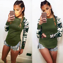 New Spring Autumn Casual Female T-Shirts O-Neck Long Sleeve Tees Printed Patchwork Slim Women Clothing Large Size Tops