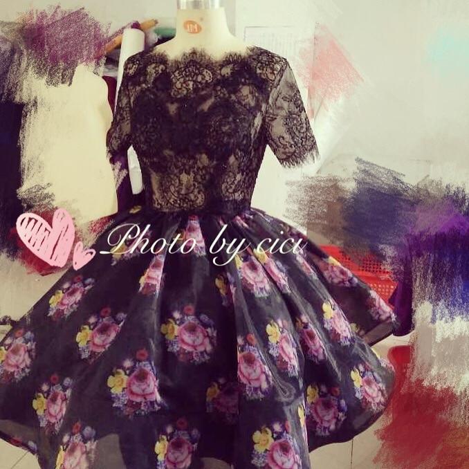 Arab Prom Bridesmaid Dresses 2018 қысқа гүл гүл - Үйлену кешкі көйлектер - фото 4