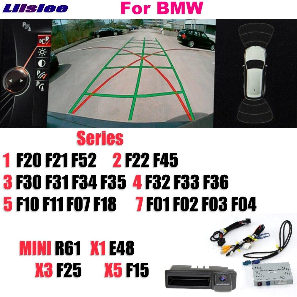 Liislee Inverse Caméra Vidéo Interface Arrière De Sauvegarde Rénovation Parking Système Plus Pour BMW 1 2 3 4 5 7 MINI x1 X3 X5 CIC NBT EVO