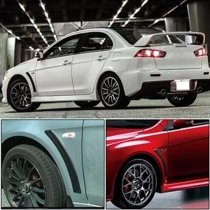Image 5 - Runmade 1 paire, garde boue avant et latéral, en Fiber de carbone, noir mat, 1 paire, pour Mitsubishi Lancer EVO, 2008 2015