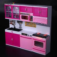 Kitchen Toys DIY Toy Kitchen Educational Mini Kitchen Play 1 Set Plastic Furniture Pretend Play Children Toys For Kids Kitchen