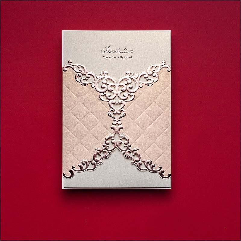 Laser Cut Wedding Greeting Cards