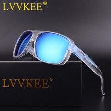 LVVKEE 2018 Новые моды Поляризованные солнцезащитные очки Мужчины / Женщины Марка Дизайнер Покрытие Зеркало Солнцезащитные очки Окулусы пляжа С оригинальным чехлом