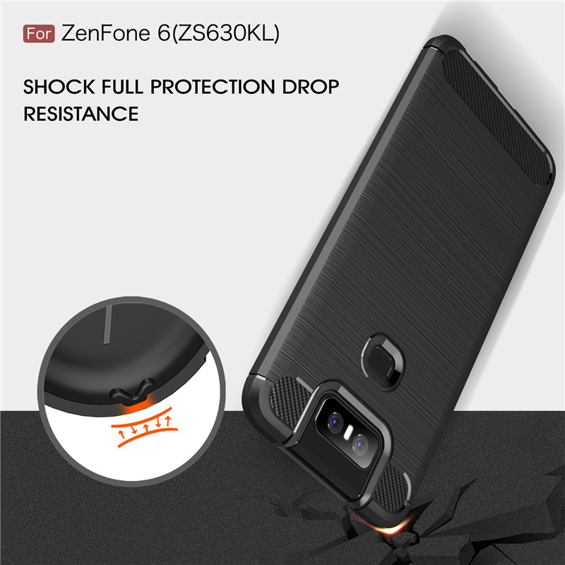 Image 2 - For Asus Zenfone 6 ZS630KL Case Armor Protective Soft TPU Silicone Phone Case For Asus Zenfone 6 Cover For Zenfone 6 ZS630KL-in Fitted Cases from Cellphones & Telecommunications