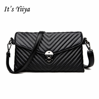 It's YiiYa 4 Colors Hot Women PU HandBag Casual Fashion Mother bags Messenger Bags With Interior Zipper Pocket SS646
